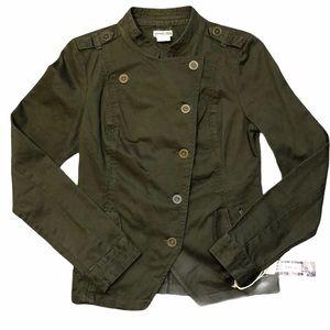 Hang Ten Military Style Button Green Jacket- SZ M